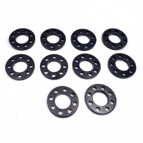 Pack de 10 Rondelle Perc√©e en Aluminium 7075 M10 Anodisé Noir