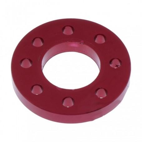 Rondelle Perc√©e en Aluminium 7075 M10Anosié Rouge