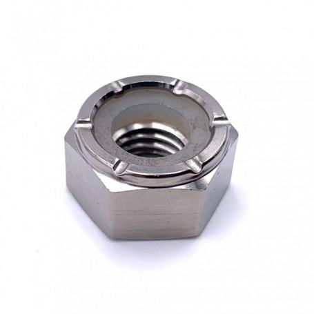 Ecrou Hexagonal Nylstop en Titane M5 x (0.80mm) - DIN 985 Naturel